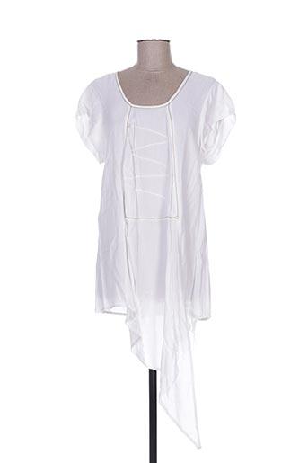 Tunique manches courtes blanc BATISTAME pour femme