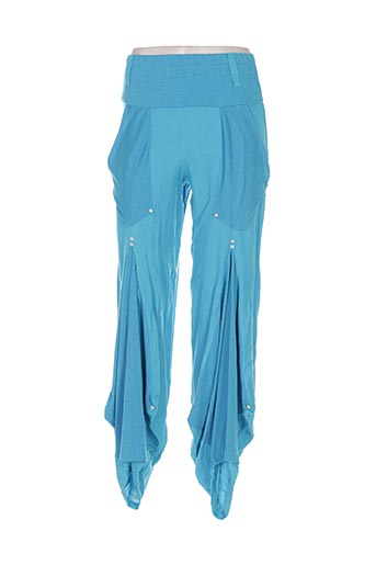 Pantalon casual bleu BATISTAME pour femme