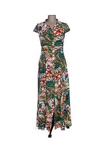 moka's robes femme de couleur vert