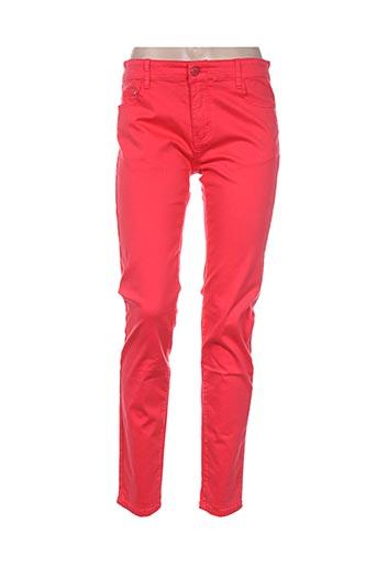 free for humanity pantalons femme de couleur rouge