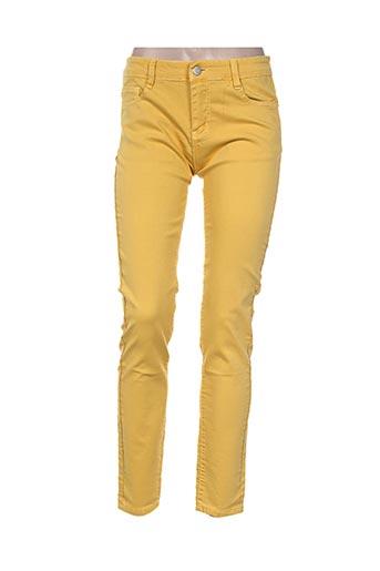 free for humanity pantalons femme de couleur jaune