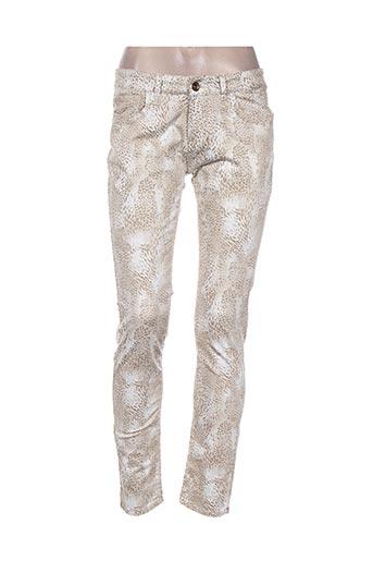 douyoudou pantalons femme de couleur beige