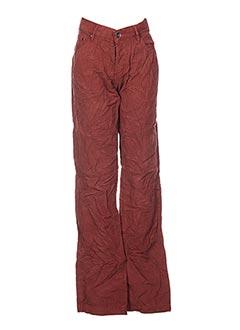Pantalon casual marron CONBIPEL pour femme
