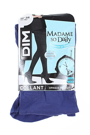 dim lingerie femme de couleur bleu