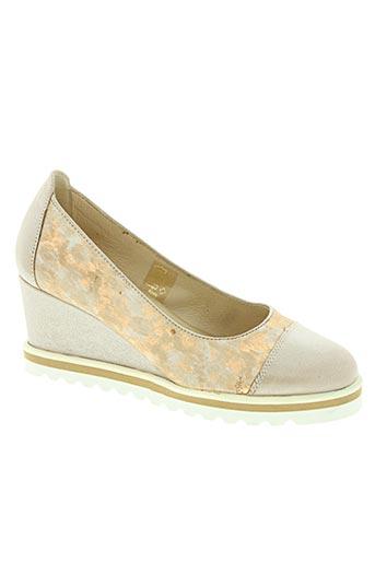rebelle chaussures femme de couleur beige