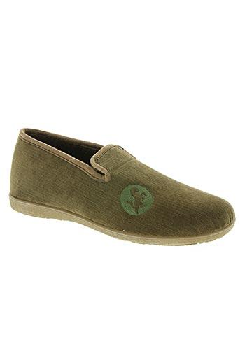 la maison de l'espadrille chaussures homme de couleur vert
