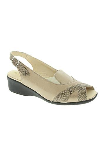 artika soft chaussures femme de couleur beige