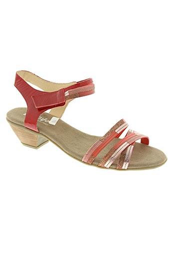 moova chaussures femme de couleur rouge