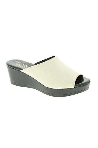 d'chicas chaussures femme de couleur blanc