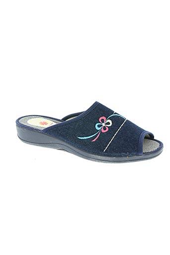alcalde chaussures femme de couleur bleu