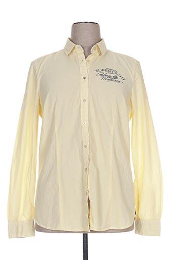 gaastra chemises homme de couleur jaune