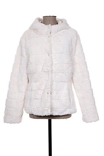 rino EFFI_CHAR_1 pelle manteaux femme de couleur beige