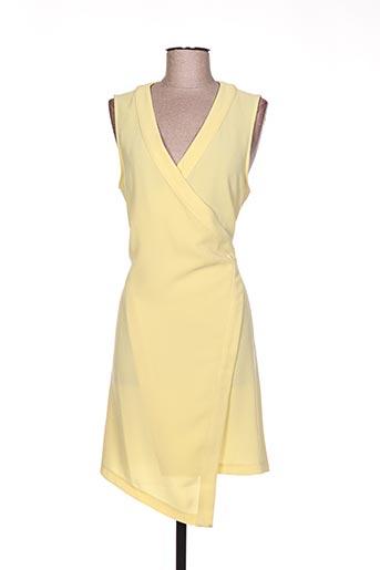 laura jo robes femme de couleur jaune