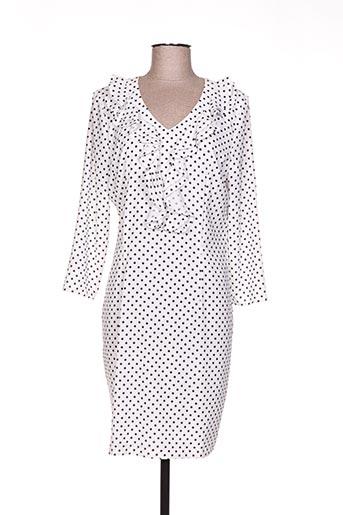 faruk robes femme de couleur blanc