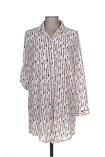 cicero chemises femme de couleur blanc