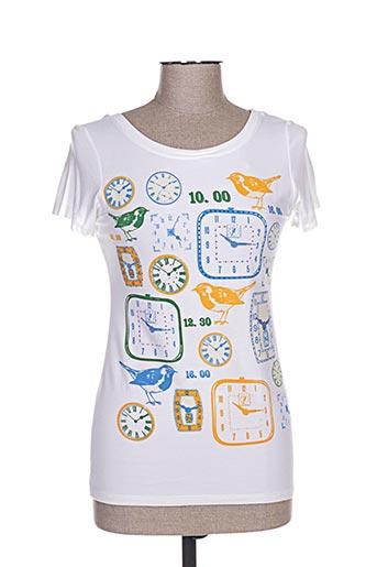 T-shirt manches courtes blanc CAMISETAS pour femme