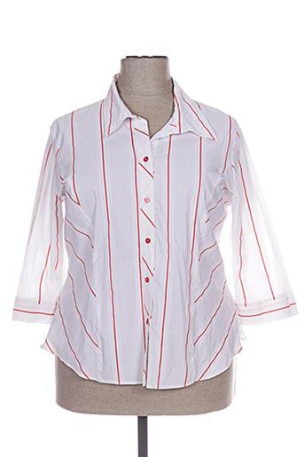 steilmann chemises femme de couleur blanc