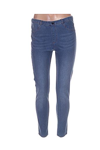 lina jeans femme de couleur bleu