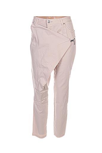 Pantalon casual beige BISOU D'EVE pour femme