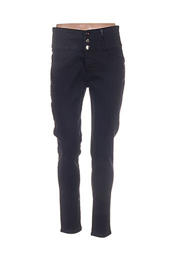 lina pantalons femme de couleur noir