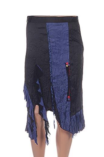 Jupe mi-longue bleu DISLAY pour femme