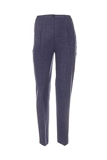 Pantalon chic bleu ELISSA pour femme