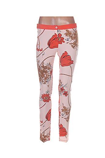 Pantalon chic orange DANIELA pour femme