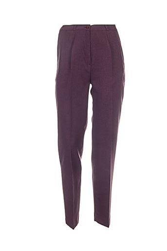 Pantalon chic violet ELSSA pour femme