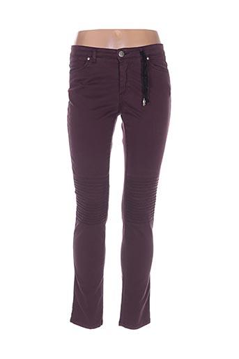 rivieres de lune pantalons femme de couleur violet