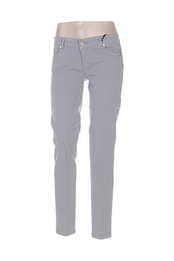 coconuda pantalons femme de couleur gris