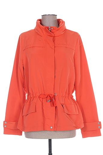 rever mile manteaux femme de couleur orange