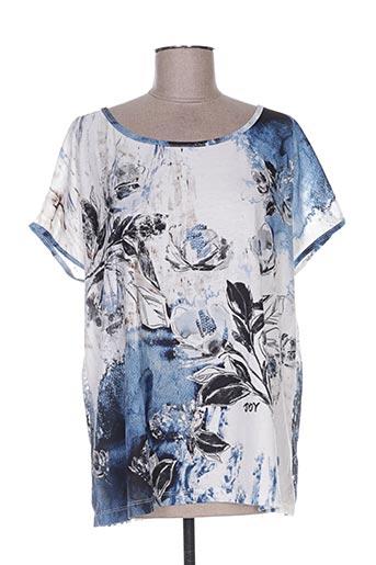 joy t-shirts femme de couleur bleu