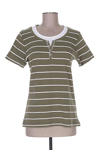m.x.o t-shirts femme de couleur vert