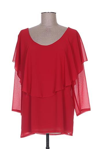 Blouse manches courtes rouge EGO pour femme