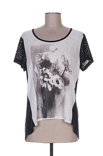 T-shirt manches courtes noir BY MO pour femme