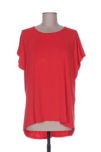 T-shirt manches courtes rouge FASHION pour femme