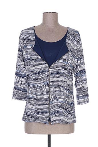T-shirt manches longues bleu HONEY MOON pour femme