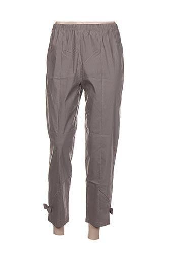 kakie pantalons femme de couleur gris