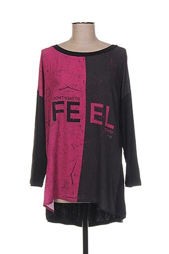 T-shirt manches longues noir DANIELA pour femme