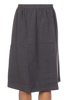 Jupe mi-longue gris CLO&SE pour femme