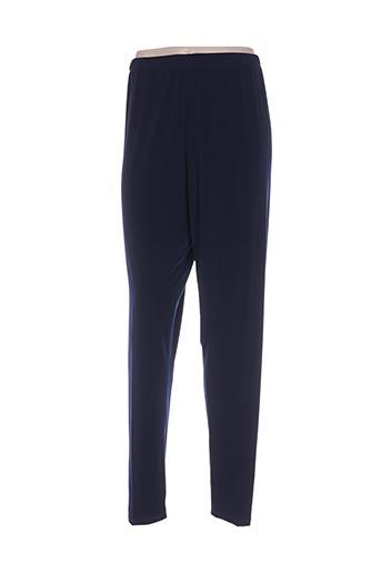 sophia curvy pantalons femme de couleur bleu