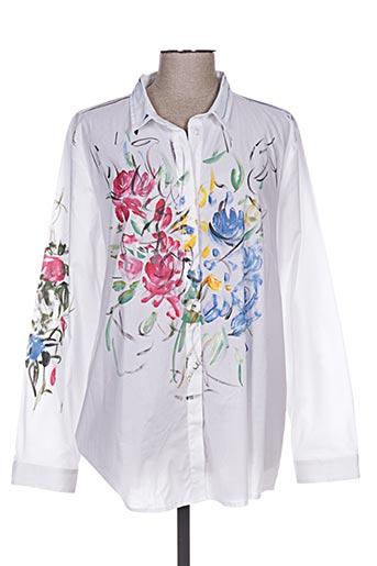sophia curvy chemises femme de couleur blanc