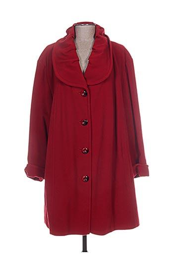 kjbrand manteaux femme de couleur rouge