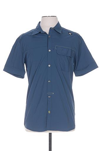 millet chemises homme de couleur bleu