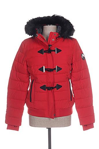 superdry vestes femme de couleur rouge