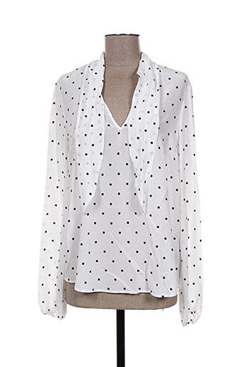 oui chemises femme de couleur blanc