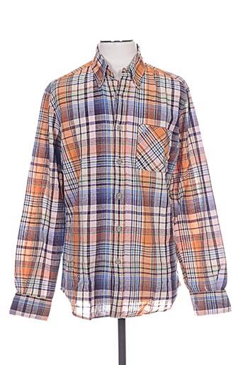 Chemise manches longues orange MCS pour homme
