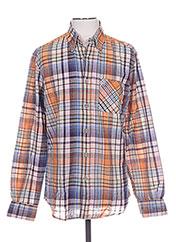 Chemise manches longues orange MCS pour homme seconde vue