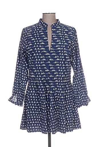 kaliyog tuniques femme de couleur bleu