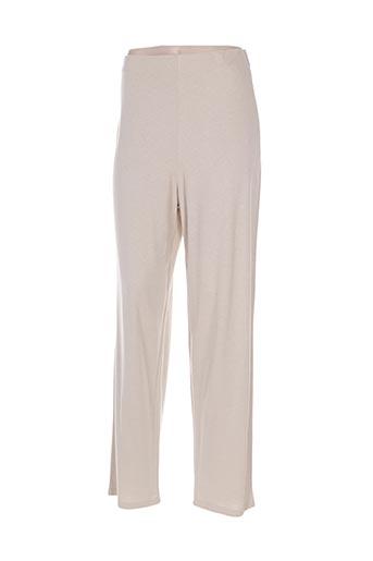 Pantalon casual beige DONNA BELLA pour femme